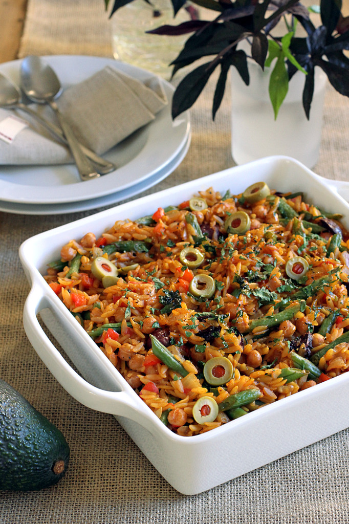 Orzo Recipes Vegetarian  Ve able Orzo Paella Two of a Kind