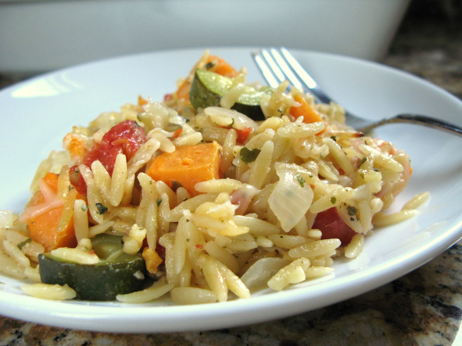 Orzo Recipes Vegetarian  The Bake f Flunkie Orzo with Ve ables & Parmesan Cheese