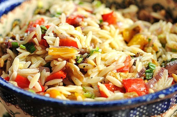 Orzo Recipes Vegetarian  Roasted Ve able Orzo Salad Recipe
