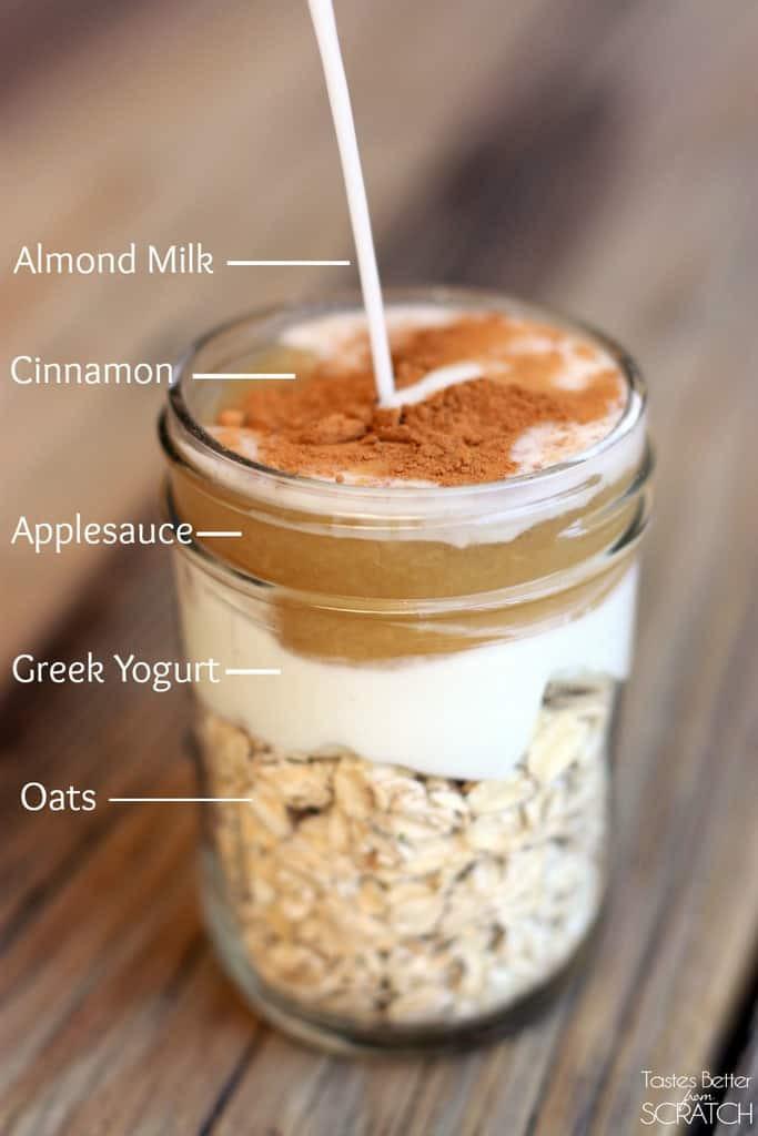 Overnight Oats Healthy Recipe  Cinnamon Apple Overnight Oats Tastes Better From Scratch