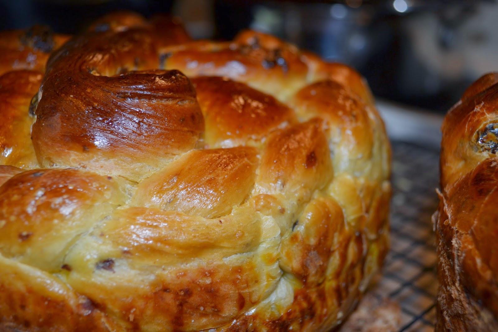 Pascha Easter Bread  Babushka s Kitchen Easter Paska Bread