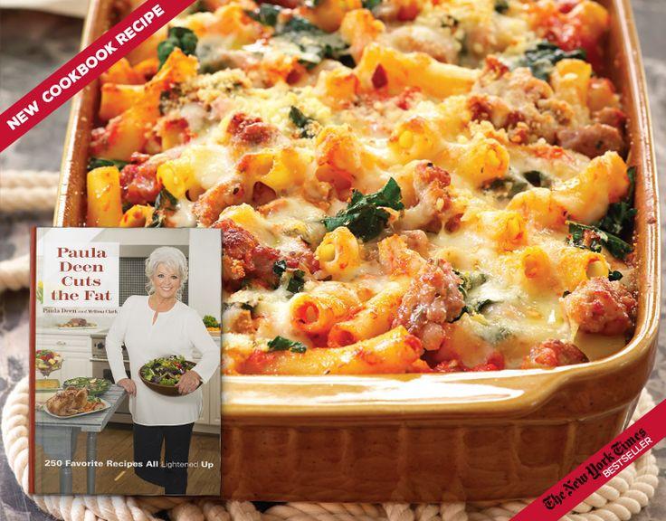 Paula Deen Diabetic Recipes  Baked Ziti Paula Deen Cuts The Fat Pinterest