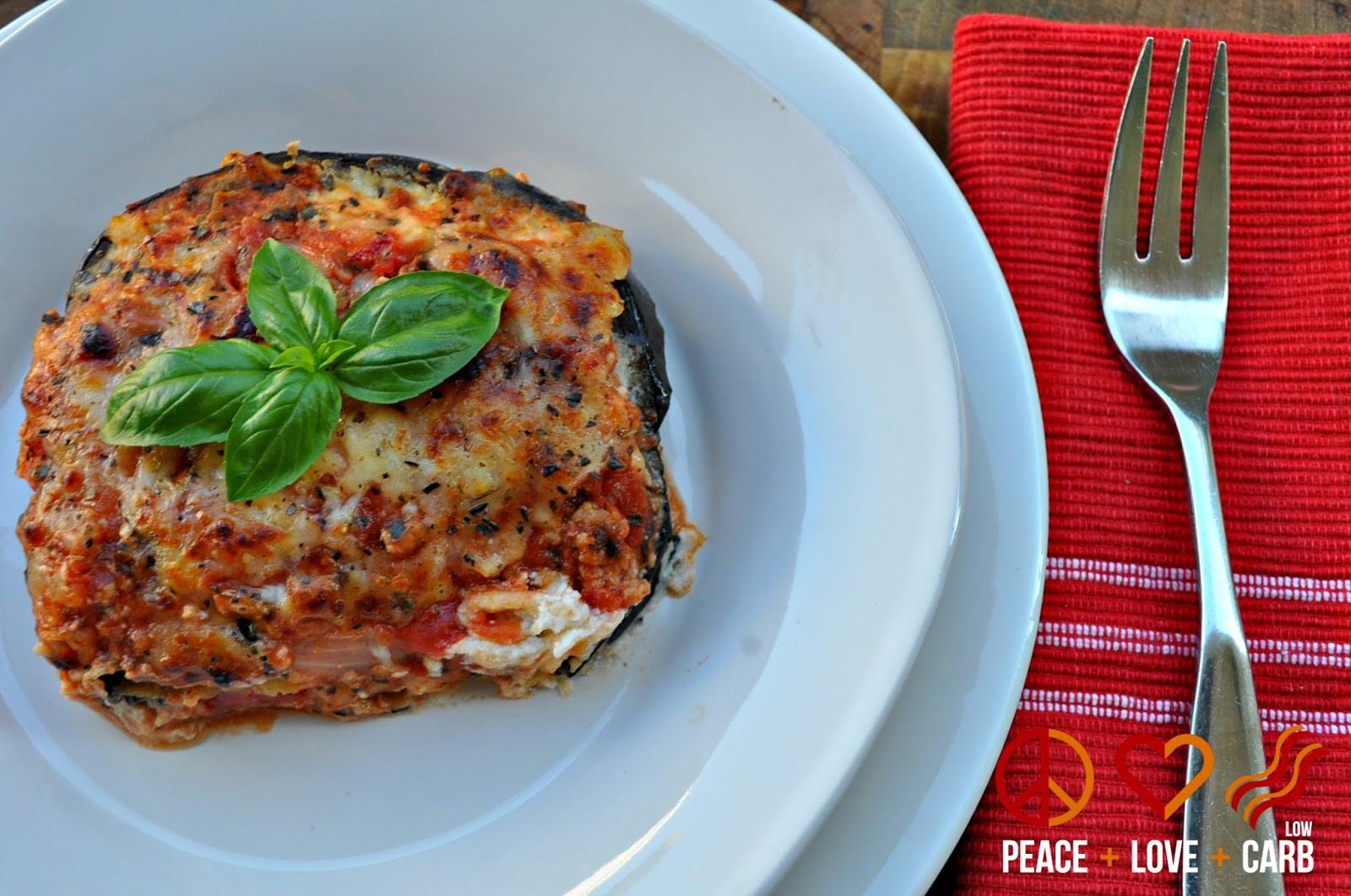 Peace Love And Low Carb Lasagna  Eggplant Lasagna with Meat Sauce Low Carb Lasagna