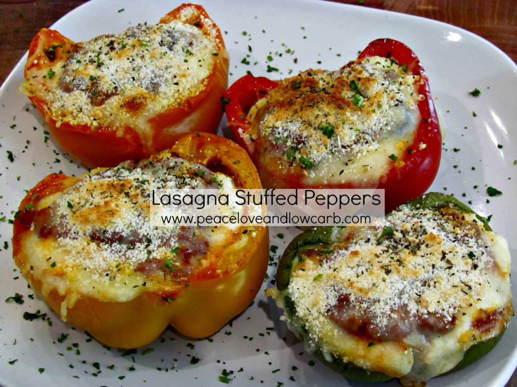 Peace Love And Low Carb Lasagna  Lasagna Stuffed Peppers Low Carb Gluten Free