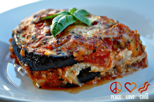 Peace Love And Low Carb Lasagna  Eggplant Lasagna with Meat Sauce Low Carb Gluten Free