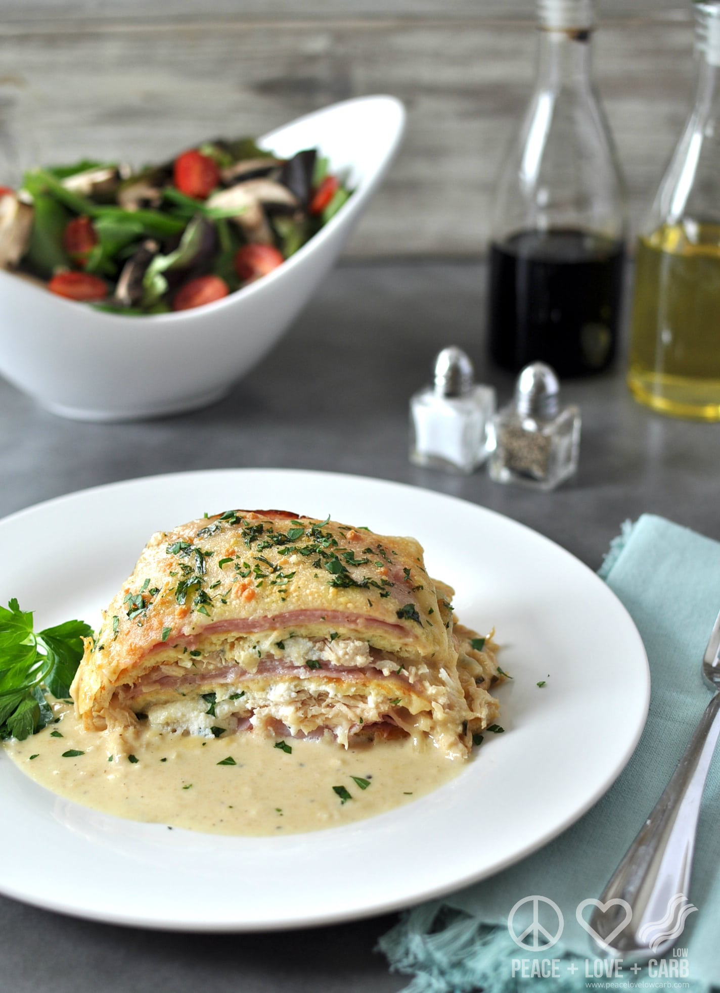 Peace Love And Low Carb Lasagna  Chicken Cordon Bleu Lasagna Low Carb Gluten Free