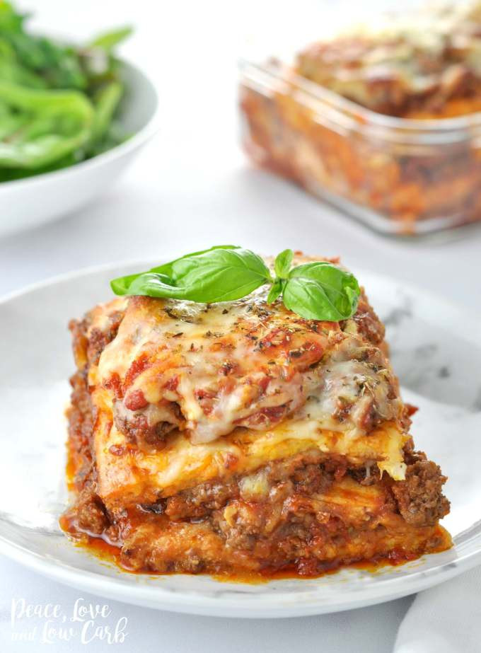"""Peace Love And Low Carb Lasagna  """"Just Like the Real Thing"""" Low Carb Keto Lasagna"""