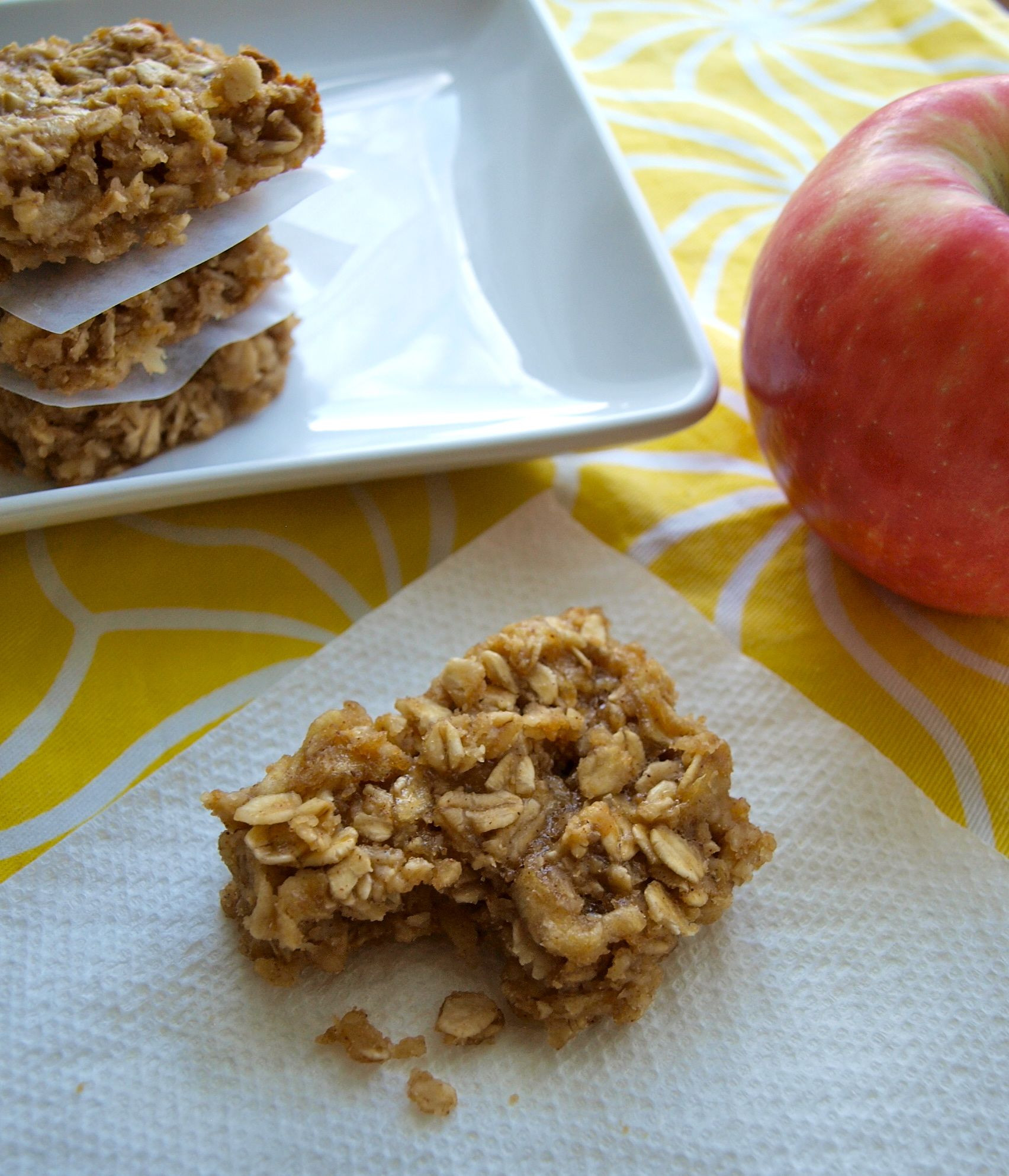 Peanut Butter Healthy Snacks  Apple peanut butter snack bars Happy Healthy Mama