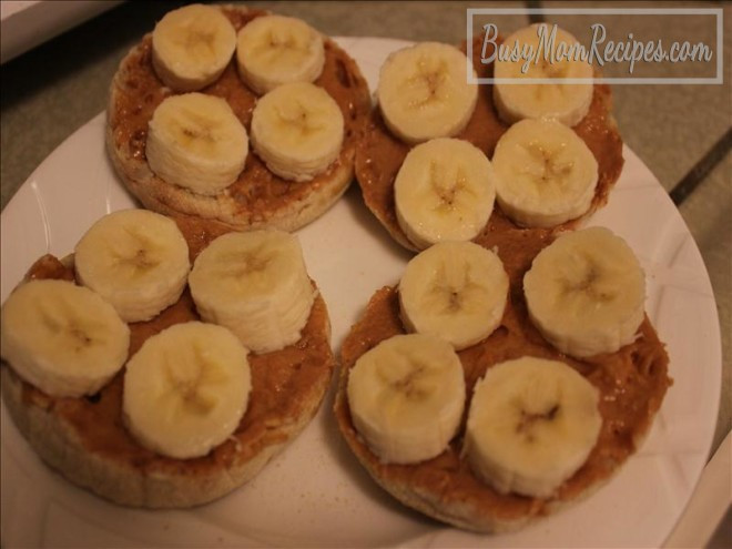 Peanut Butter Healthy Snacks  Healthy Peanut Butter Banana English Muffin Snack Idea