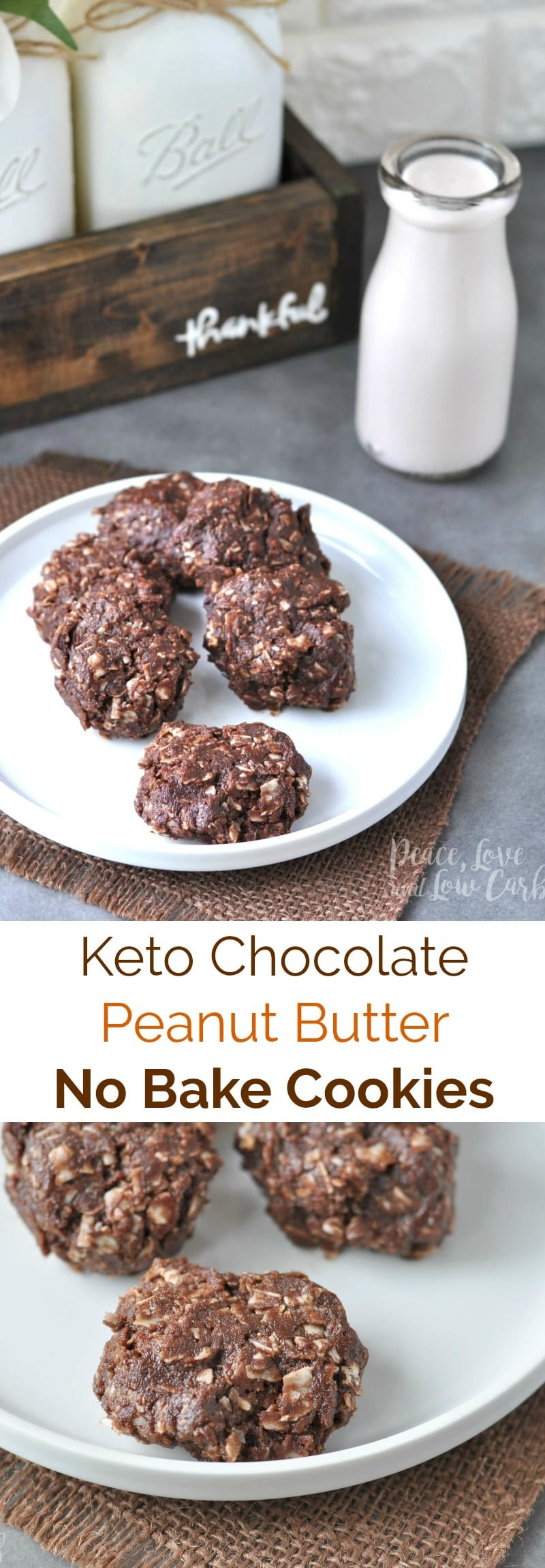 Peanut Butter Keto Diet  Chocolate Peanut Butter Low Carb Keto No Bake Cookies