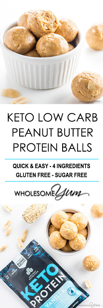 Peanut Butter Keto Diet  Keto Low Carb Peanut Butter Protein Balls Recipe 4