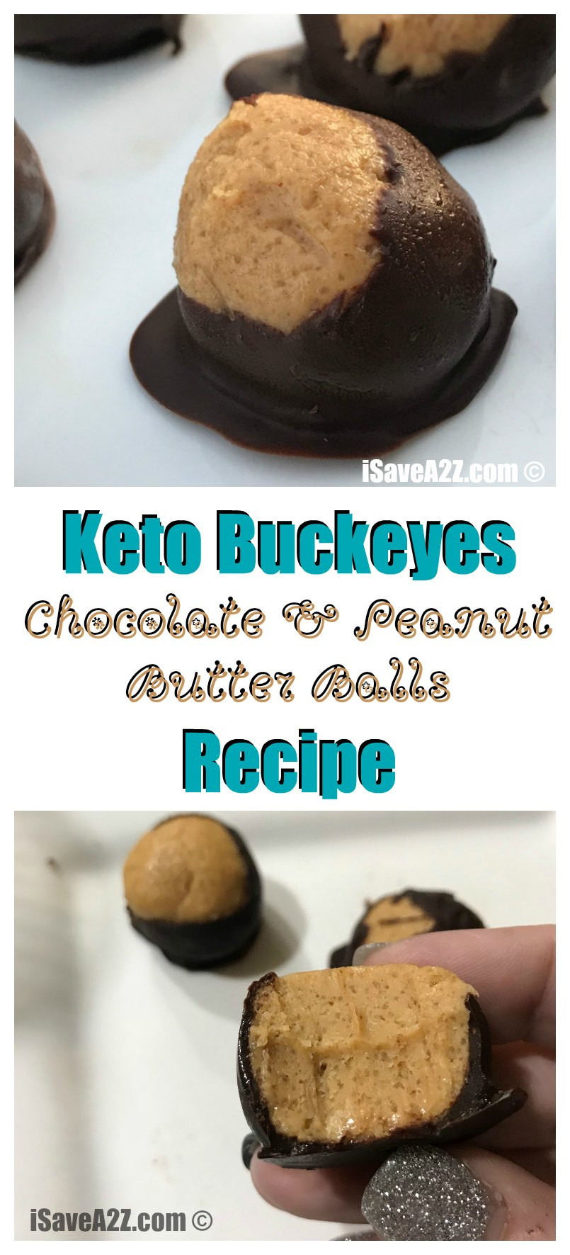 Peanut Butter Keto Diet  Keto Buckeyes Chocolate and Peanut Butter Balls Recipe