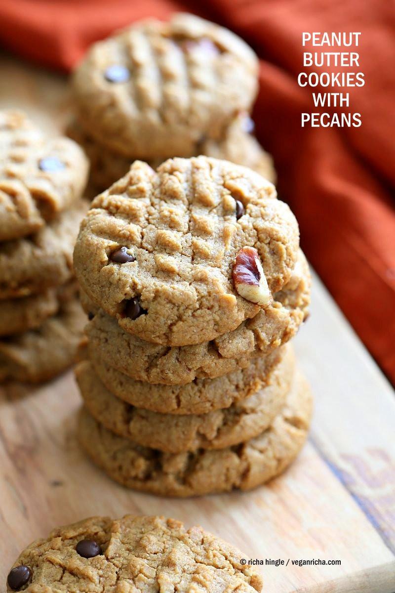 Peanut Butter Vegan Cookies  Vegan Peanut Butter Cookies with Pecans Vegan Richa