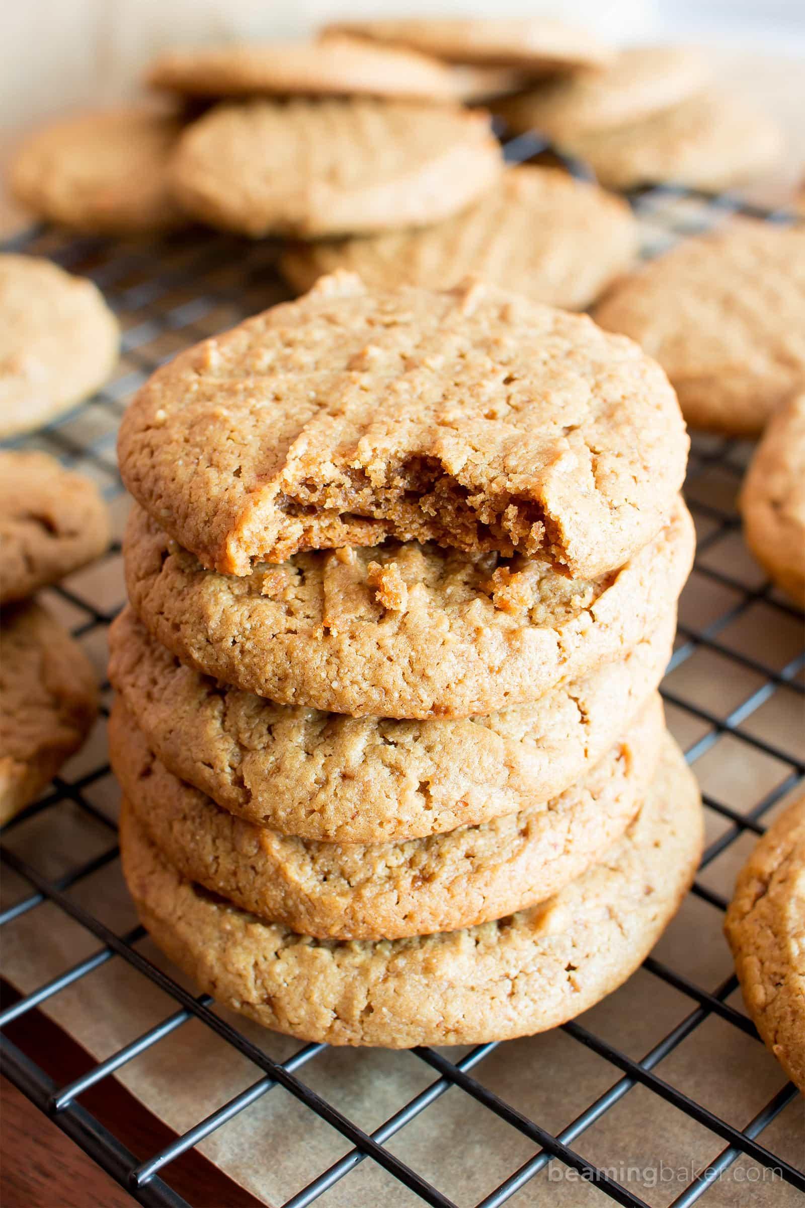 Peanut Butter Vegan Cookies  chewy vegan peanut butter cookies
