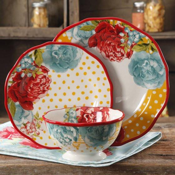 Pioneer Woman Easter Dinner  The Pioneer Woman Blossom Jubilee 12 Piece Dinnerware Set