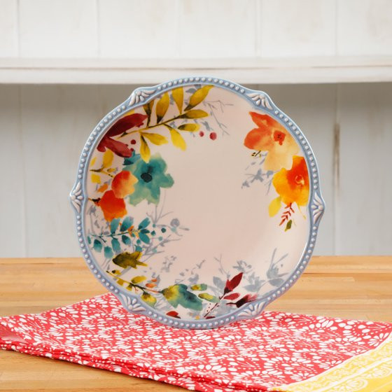 Pioneer Woman Easter Dinner  The Pioneer Woman Willow 8 75 Inch Salad Plates Set of 4