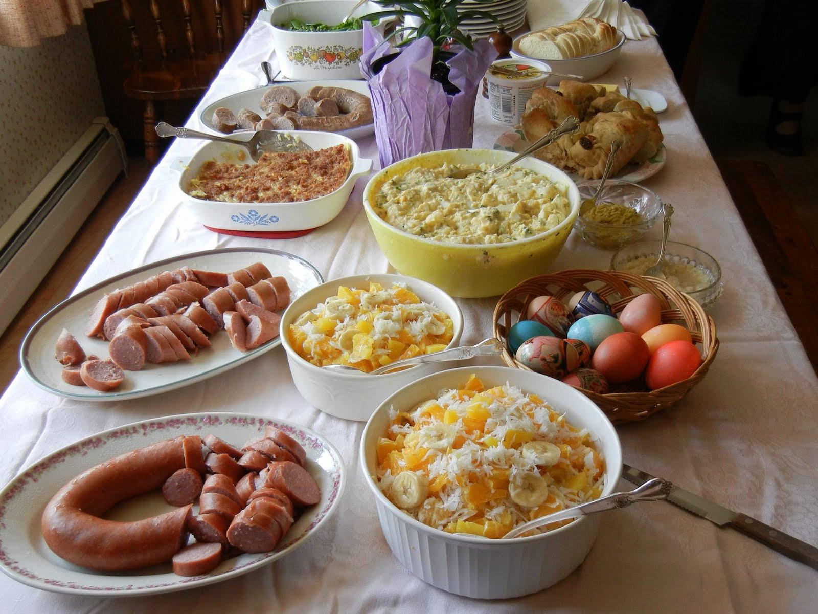 Polish Easter Dinner  polish easter food
