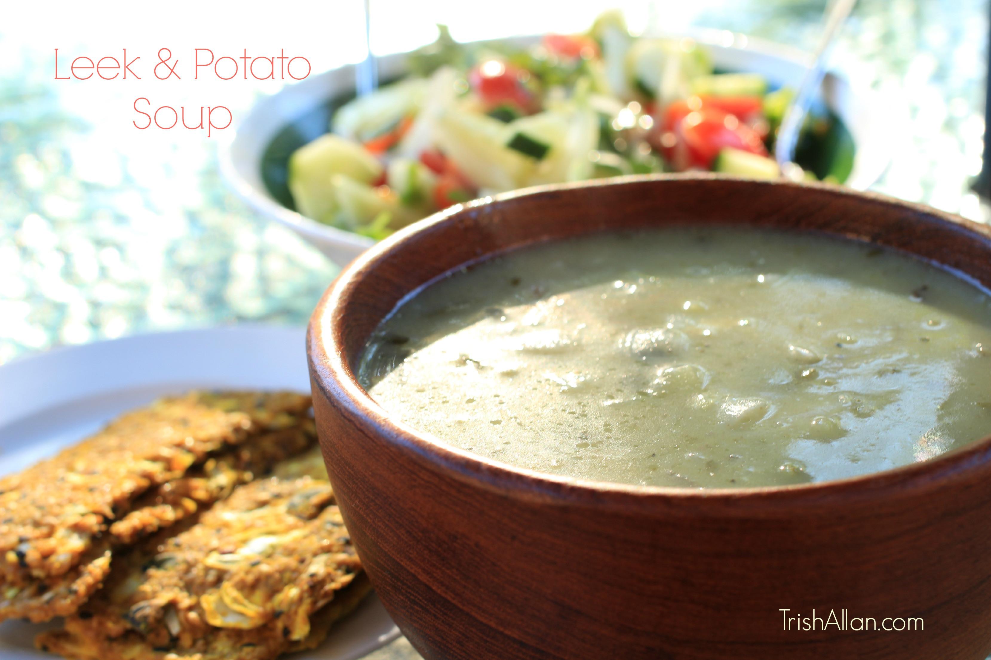 Potato Leek Soup Dairy Free  Leek & Potato Soup dairy free Trish Allan