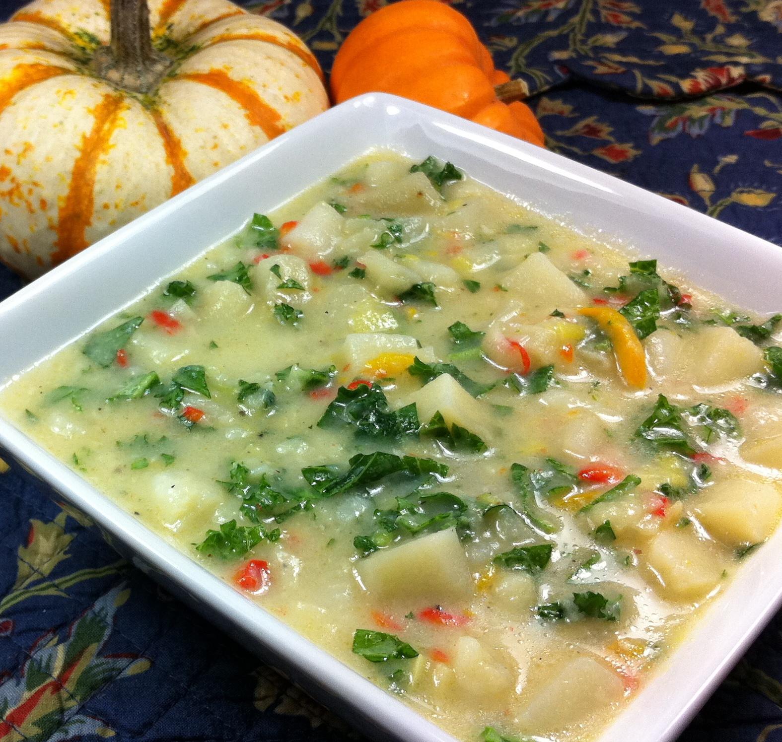 Potato Leek Soup Dairy Free  Gluten Free Dairy Free Potato Leek Soup
