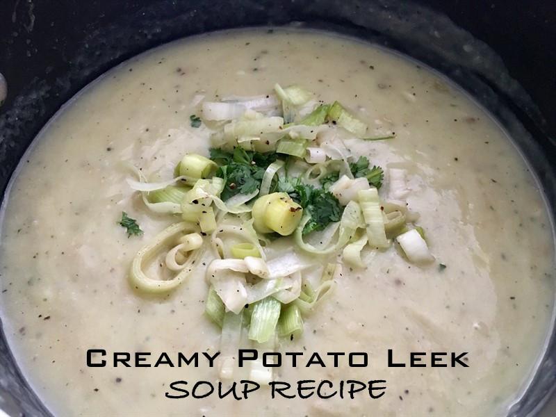 Potato Leek Soup Dairy Free  Creamy Potato Leek Soup Recipe Vegan & Gluten Free