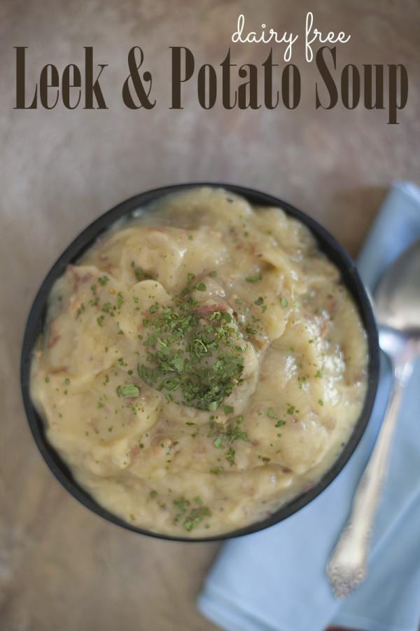 Potato Leek Soup Dairy Free  Eating richly even when you re broke