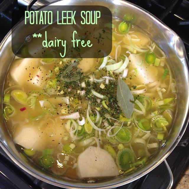 Potato Leek Soup Dairy Free  Creamy Potato Leek Soup Gluten Free Dairy Free