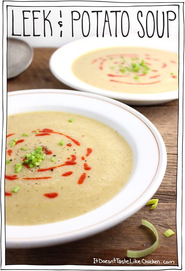 Potato Leek Soup Recipe Vegan  vegan potato leek soup coconut milk