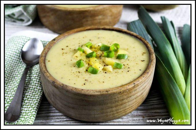Potato Leek Soup Recipe Vegan  Creamy Vegan Potato Leek Soup
