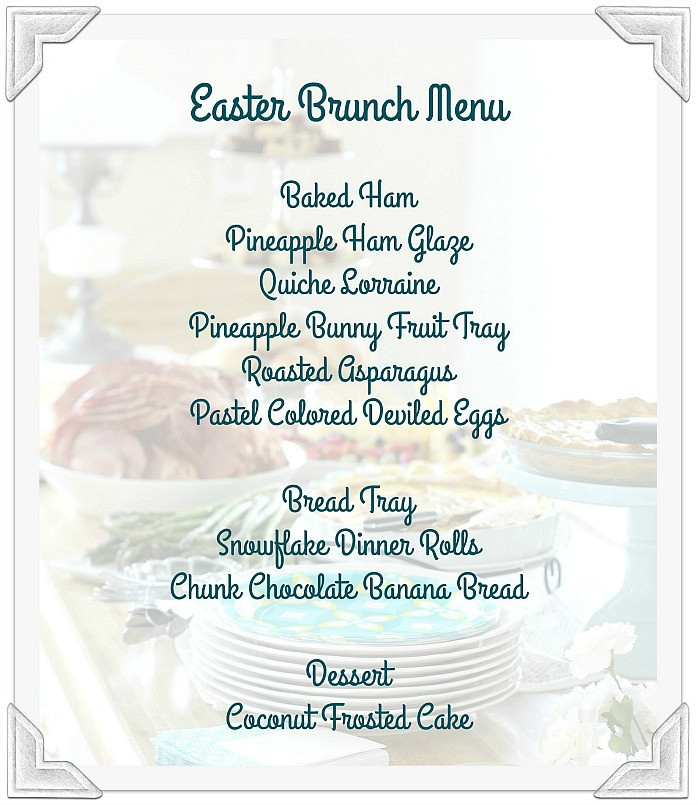 Prayer For Easter Sunday Dinner  Easter Brunch Menu Grateful Prayer