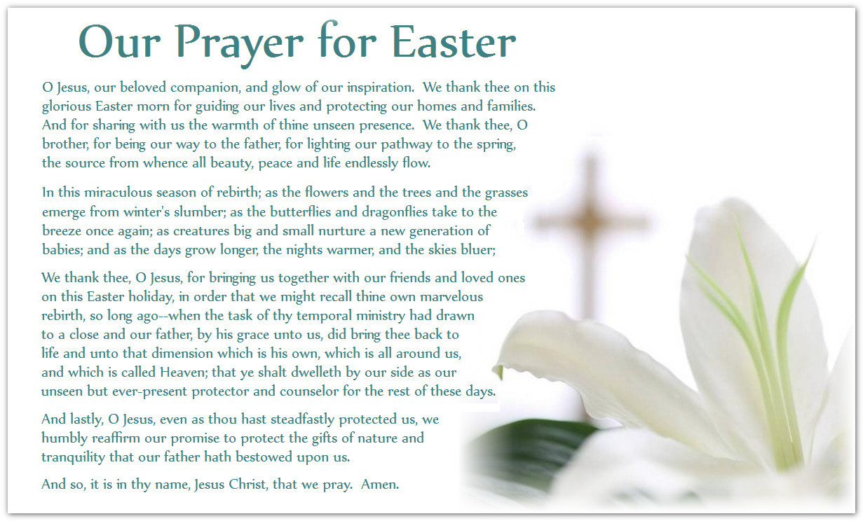 Prayer For Easter Sunday Dinner  Easter Prayer Quotes QuotesGram
