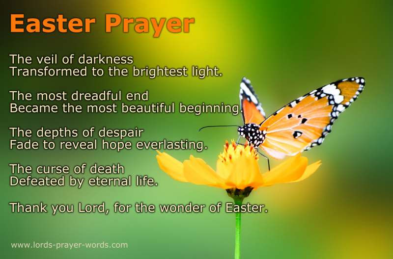 Prayer For Easter Sunday Dinner  8 Easter Prayers and Blessings Poem & Quotes
