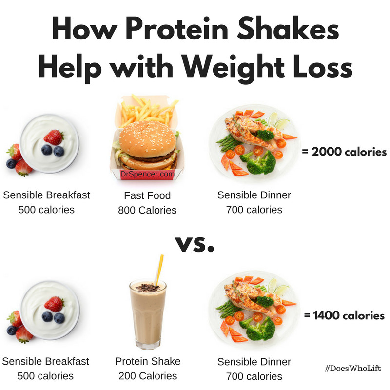 Protein Dinners For Weight Loss  Protein Shakes for Weight Loss Dr Spencer Nadolsky
