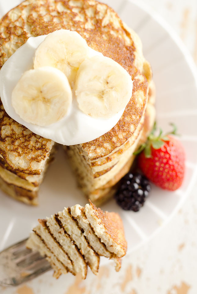 Protein Pancakes Low Carb  Light & Fluffy Banana Protein Pancakes Low Carb Breakfast