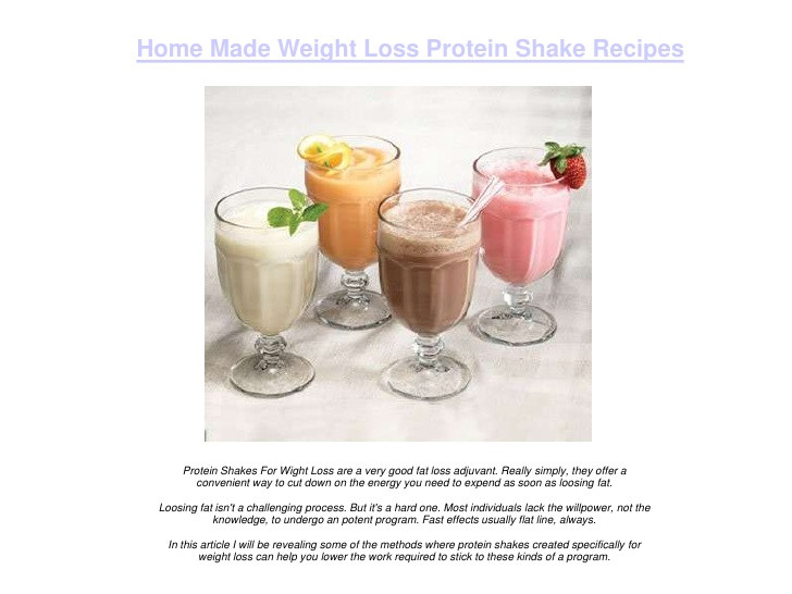Protein Shakes Recipes For Weight Loss  Home Made Weight Loss Protein Shake Recipes