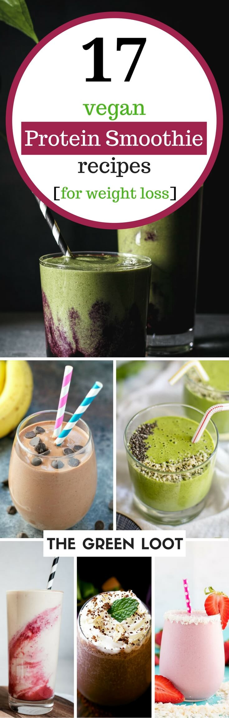 Protein Shakes Recipes For Weight Loss  17 Tasty Vegan Protein Smoothie Recipes for Weight Loss
