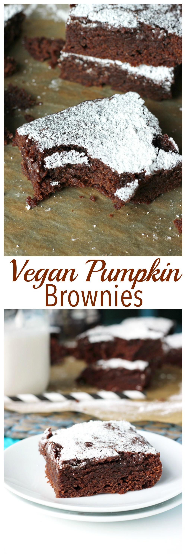 Pumpkin Brownies Vegan  The Best Vegan Pumpkin Brownies
