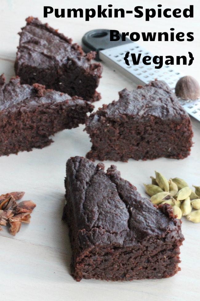 Pumpkin Brownies Vegan  Pumpkin Spiced Brownies Vegan — Cooking By LaptopCooking
