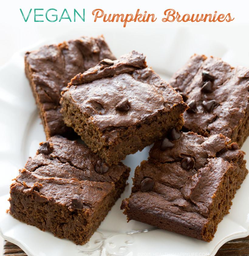 Pumpkin Brownies Vegan  Pumpkin Brownies