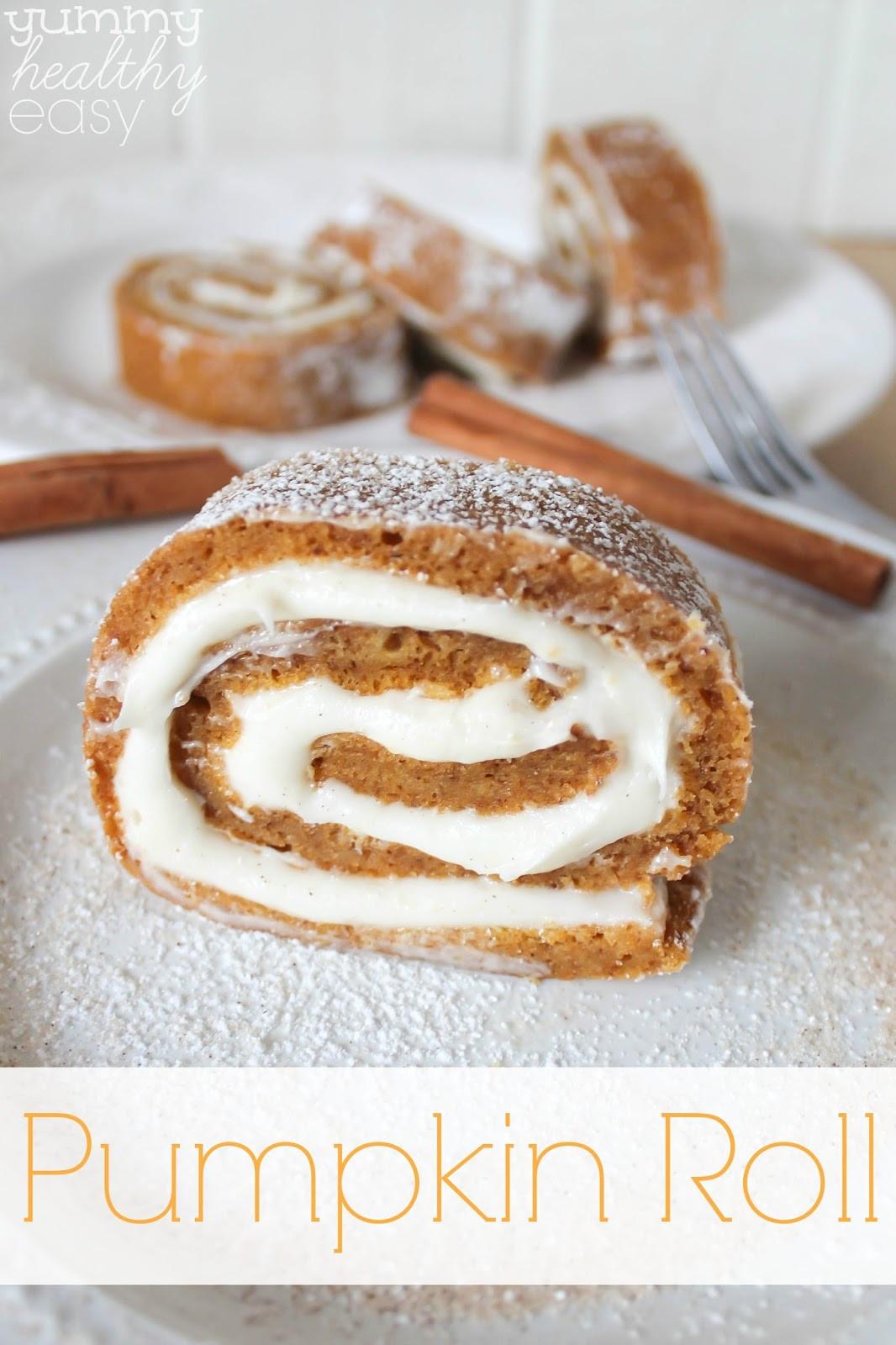 Pumpkin Desserts Healthy  Easy Pumpkin Roll Dessert Yummy Healthy Easy
