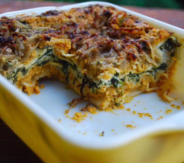 Pumpkin Lasagna Vegetarian  Vegan Lasagna for Two Holy Cow Vegan Recipes