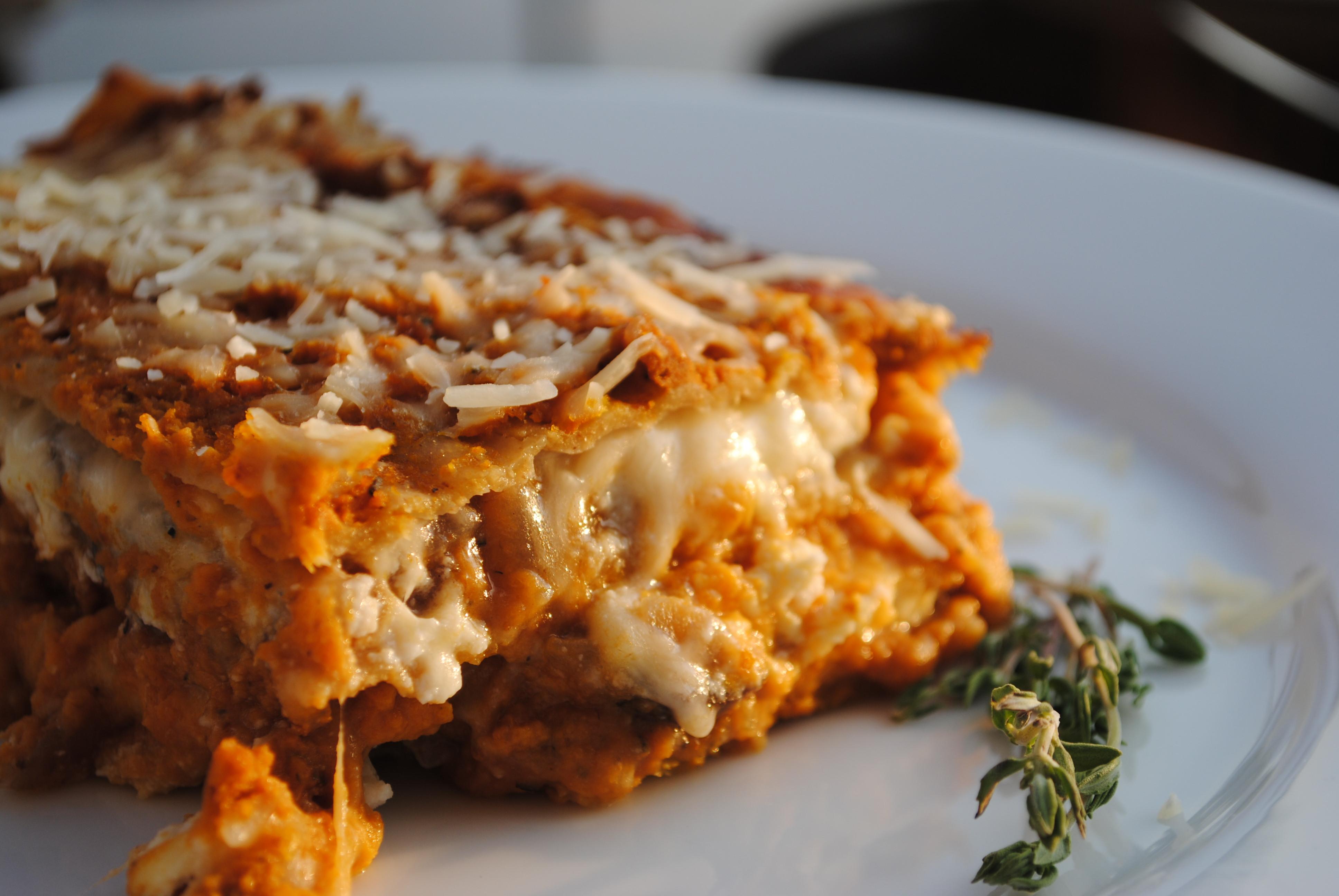 Pumpkin Lasagna Vegetarian  Pumpkin Lasagna