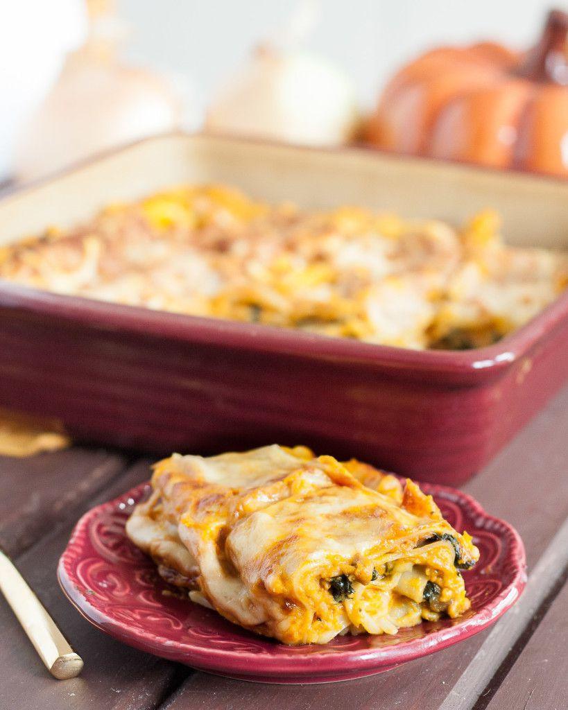 Pumpkin Lasagna Vegetarian  Savory Pumpkin Lasagna Ve arian Goo Godmother A