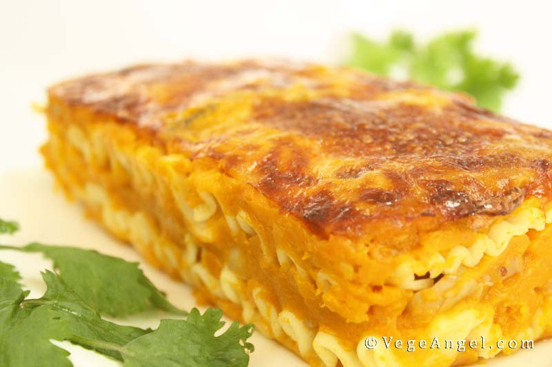 Pumpkin Lasagna Vegetarian  Ve arian Recipe Pumpkin and Mushroom Lasagna