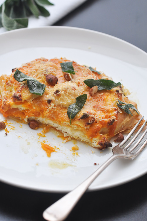 Pumpkin Lasagna Vegetarian  Pumpkin Lasagna…and turning ve arian