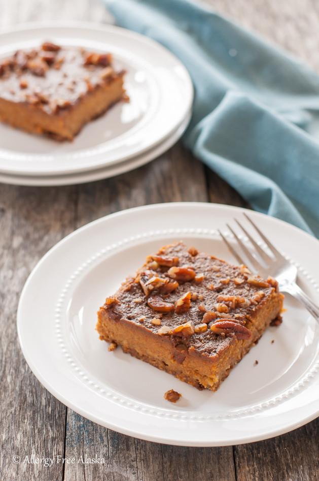 Pumpkin Pie Recipe Dairy Free  Gluten Free Dairy Free Pumpkin Pie Bars Allergy Free Alaska