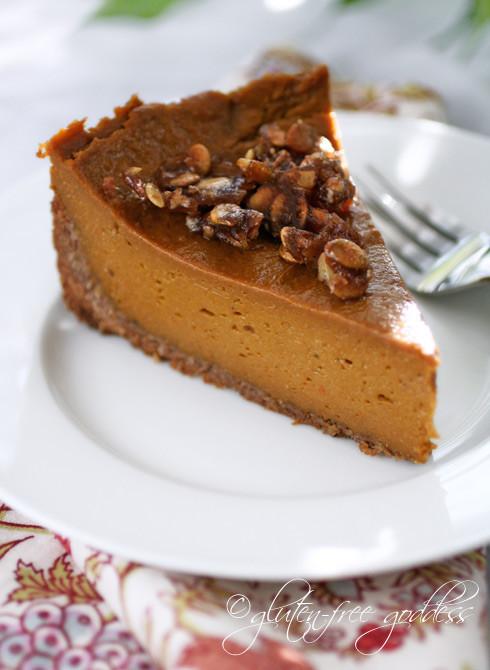 Pumpkin Pie Recipe Dairy Free  Gluten Free Goddess Recipes Vegan Pumpkin Pie Praline in