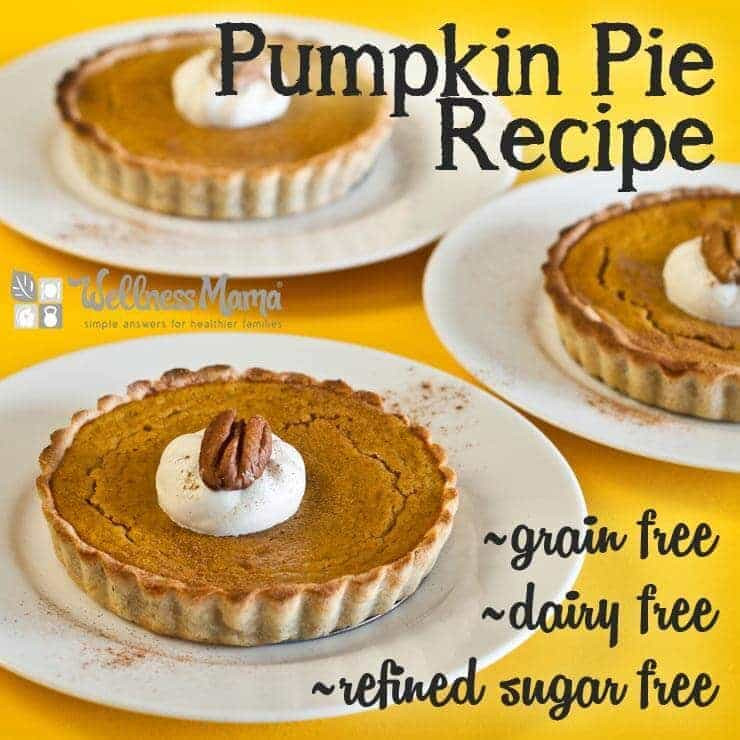 Pumpkin Pie Recipe Dairy Free  Grain free Dairy free Pumpkin Pie = A Healthier Yum