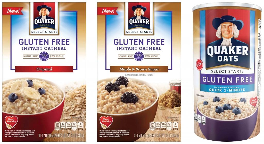 Quaker Oats Gluten Free Oatmeal  Quaker Oats Gluten Free Oatmeal Launches Nationwide in