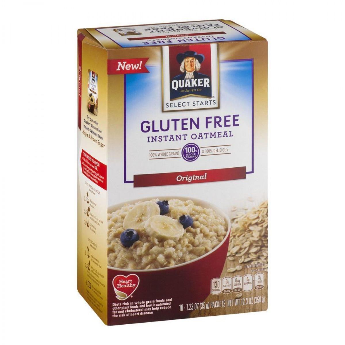 Quaker Oats Gluten Free Oatmeal  Quaker Instant Oatmeal Gluten Free Original 350g 12 3oz