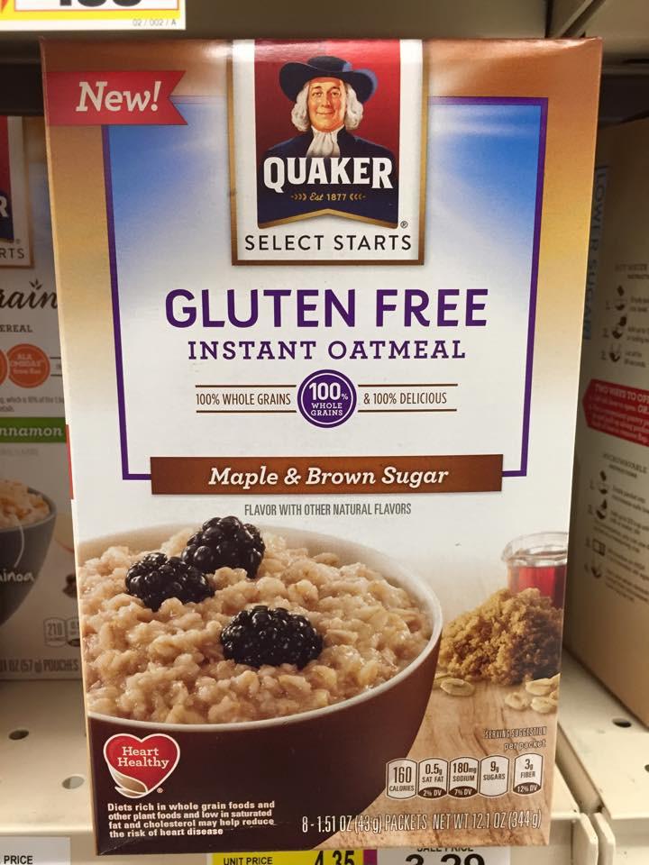 Quaker Oats Gluten Free Oatmeal  New Quaker Gluten Free Instant Oatmeal Gluten Free Living
